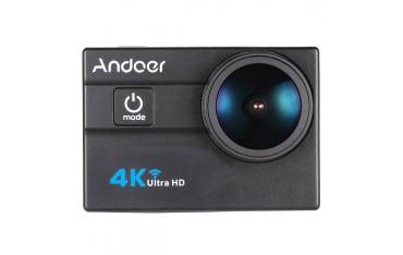 """Спортна видеокамера Andoer, 4K Ultra HD, 2.0 """"LCD, WiFi, 4X Увеличение, 173 ° HD Обектив"""