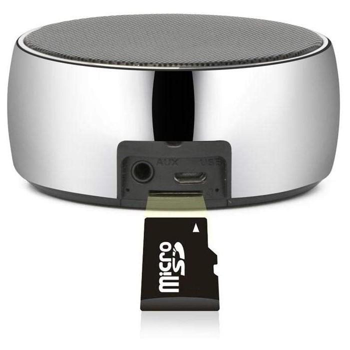 Метален портативен безжичен високоговорител с вграден микрофон Simplicity BS-01