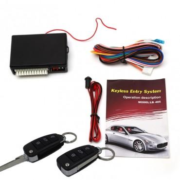 Система за централно заключване на автомобила LanBo LB-405, Аларма, Бутон за отваряне на багажника, Обхват до 80м
