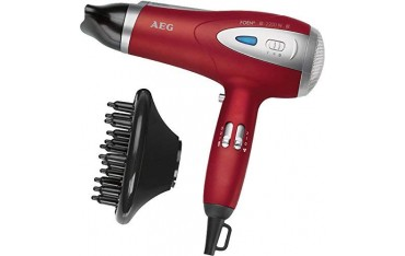 Сешоар AEG HTD5584, Професионален, 2200 W, Йонна технология, Червен