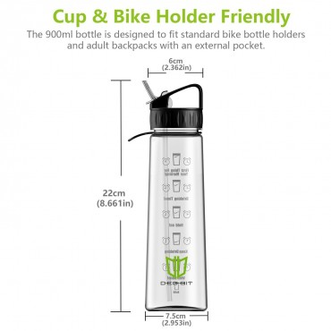 Бутилка за вода , 900 ml, за спорт, къмпинг