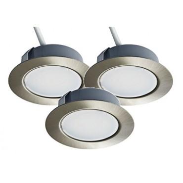 3 LED осветителни тела Trango TGG4E-032, за вграждане, 3x25W, 3x250 lm