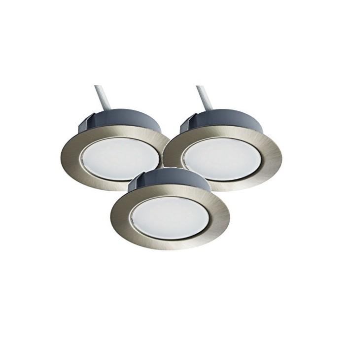 Комплект от 3 вдлъбнати LED осветителни тела Trango TGG4E-032