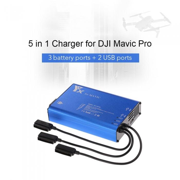 5 в 1 зарядно за DJI Mavic Pro FPV Drone 3 Goolsky yxc06