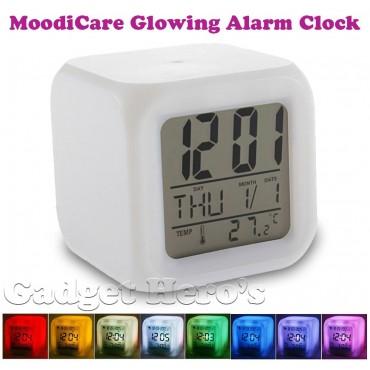 Светещ будилник с календар и температура MooodiCare