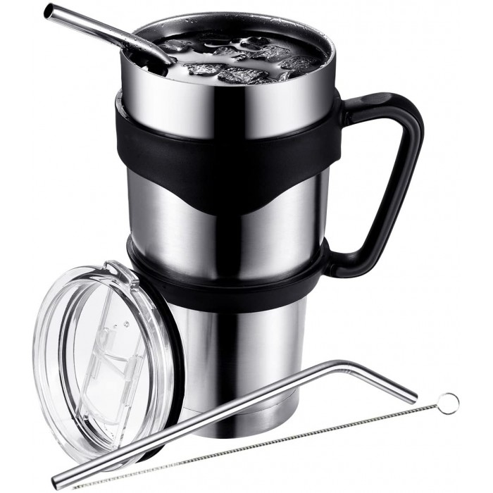 Двустенна изолирана вакуумна чаша за пътуване Pictek