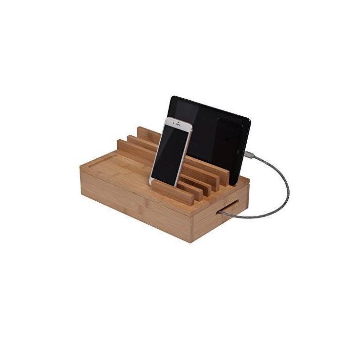 Бамбукова стойка за зареждане на мобилни устройства easyPower24