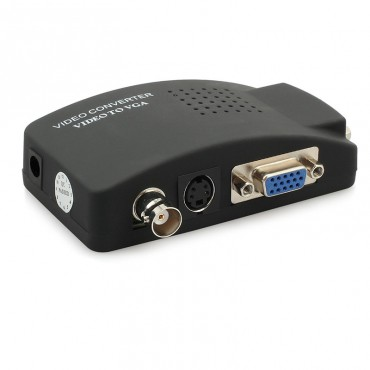 Видео конвертор CCTV камера BNC S-Video към VGA JustLink JL-C8011