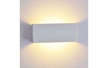 Стенна лампи Hedc, LED, 8 W, 3500 K, Водоустойчива, Алуминий