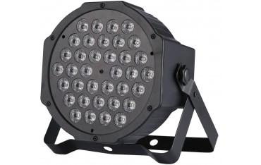 RGB Сценично осветление Gledto, UV флуоресция, Гласово управление, AUTO, DMX светлина