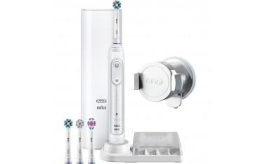 Електрическа четка за зъби Oral-B Genius 9000, SmartRing, 6 Програми, 4 Глави, Свързаност Bluetooth