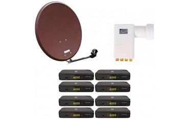 Сателитна система Opticum AX, SAT, HD, 8 потребителска сателитна система HD HDTV приемник, Octo LNB, 60 см