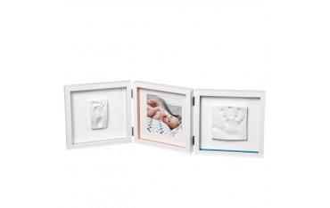 Отпечатък и снимка BABY ART, 3 части, Рамка с отпечатък за ръчичка и краче