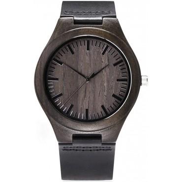 Ръчно изработен дървен часовник Temon