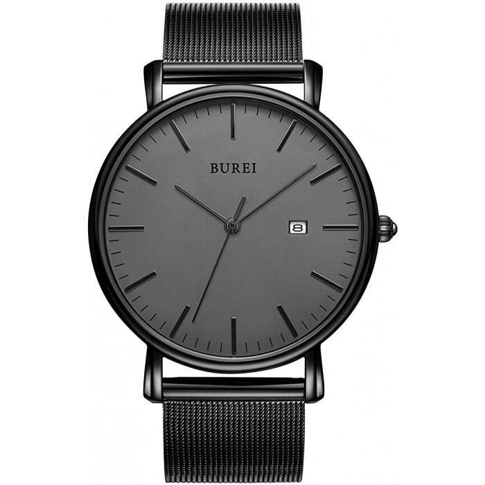 Мъжки аналогов ръчен часовник с дата BUREI