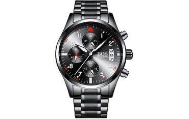 Мъжки часовник Angela BOS, Неръждаема стомана, Водоустойчив до 3 ATM