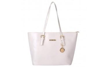 Дамска чанта Coofit, Комплект 2 части, Бяла