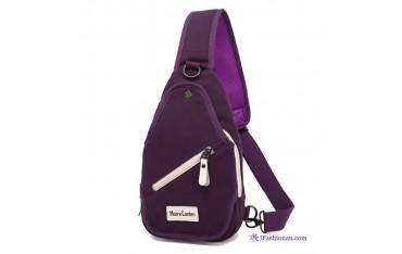 Мъжка чанта Moore Carden, Тъмнолилава