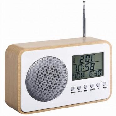 Радиочасовник Homday X-PERT, FM, Аларма, Температура, Календар