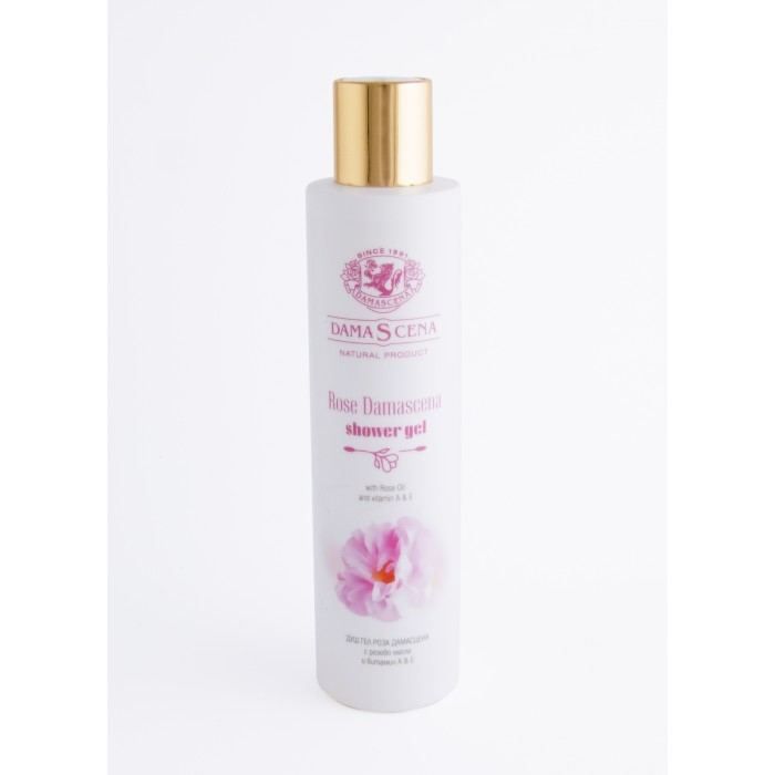 Натурален душ гел с розово масло и витамините А и Е Дамасцена