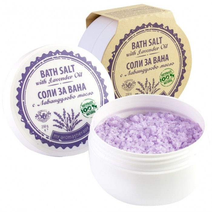 Натурални соли за вана от лавандулово масло Дамасцена
