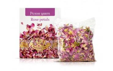 Натурален сух розов цвят Дамасцена