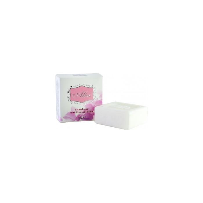 Натурален сапун за ръце и тяло с розово абсолю Alba