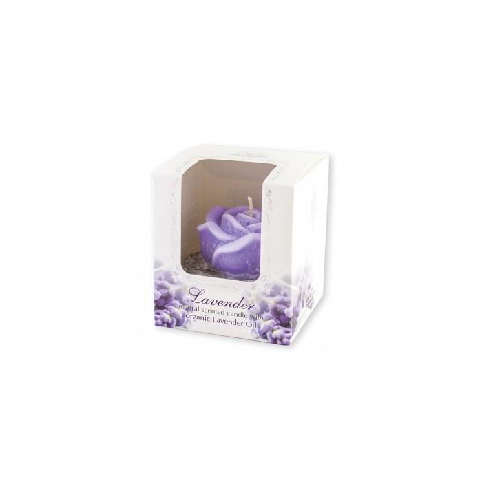 Натурални ароматни свещи с Лавандулово масло Alba