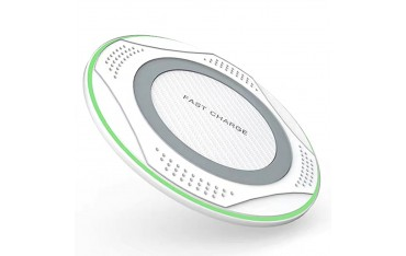 Безжичното зарядно устройство LUMAUDiO Limitless, бързо зареждане 10W, Защита от прегряване, Бяло