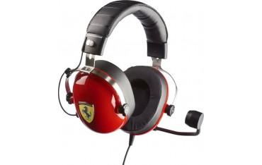Слушалки T.Racing Scuderia Ferrari Edition (4060105), микрофон, 3.5mm жак, за PC/PS4/XBOXONE, гейминг, червени