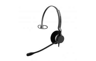 Слушалки Jabra BIZ 2300 QD Mono, черни, noise cancelling, микрофон