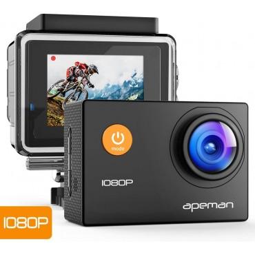 Спортна камера Apeman A66, 1080P Full HD, Водоустойчива
