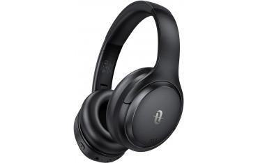 Безжични слушалки TaoTronics TT BH090, Bluetooth 5.0, 35ч време за работа, Интегриран микрофон, Черни