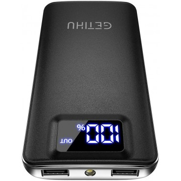 Зарядно устройство Getihu BG 140, 10 000 mAh батерия, 2 USB 4,8 A порта