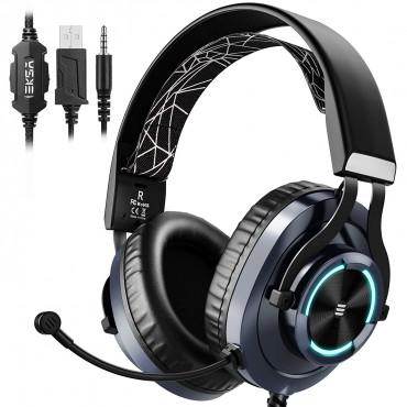 Кабелни слушалки за игри EKSA E3000