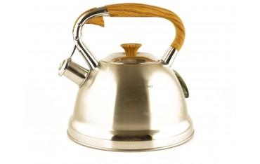 Чайник KINGHOFF KH-3783, 2.7L, Свирещ, Неръждаема стомана