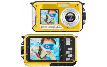 Камера за подводни снимки YISENCE 806BC, FHD 2.7K, 48 MP, Водоустойчива до 3м