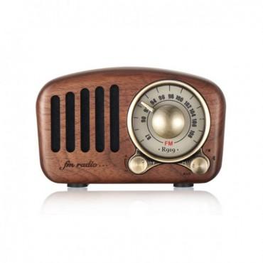 FM радио от орехово дърво в класически стил Greadio R919