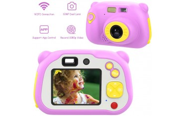 Детска видео камера MoKo X200, 12MP, Wi-Fi, Розова