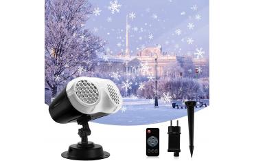 LED прожектор BACKTURE, Проектор снежинки, IP65 водоустойчив