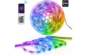 Smart LED лента TECKI sl07N, Music Sync, Voice control, Timer, RGB, 10 м