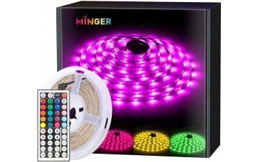 LED лента Minger H6140010, RGB, Водоустойчива IP65, 5 м