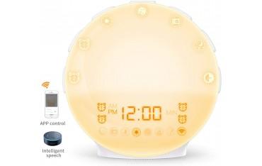 Цифров часовник COULAX, WIFI, Sunrise, FM радио