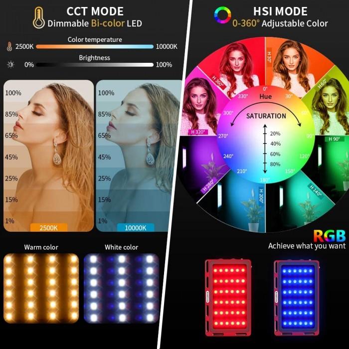 RGB видео светлина SAMTIAN rb-l1