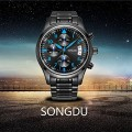 SONGDU Мъжка мода бизнес кварцов часовник