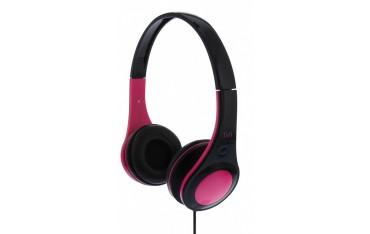 Аудио слушалки DOTCOM, стерео, регулируема лента за глава, розови
