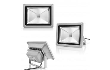 LED Прожектор Warmoon, 20 W, 2400 lm, RGB, Дистанционно, Водоустойчив IP65