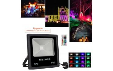 Прожектор MEIKEE, LED , 30W, 16 цвята, водоустойчив