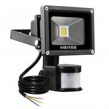 Прожектор MEIKEE, 10W, сензор за движение, водоустойчив