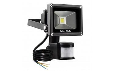 Прожектор MEIKEE, 10W, 820lm, Сензор движение, Водоустойчив